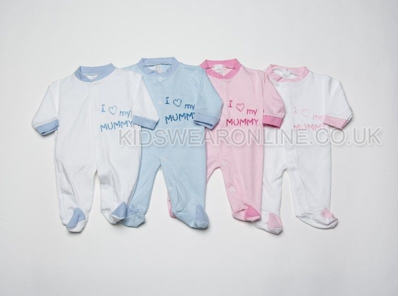 Baby Assorted Sleepsuit I Love Mummy