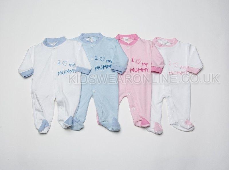 Baby Assorted Sleepsuit I Love Mummy