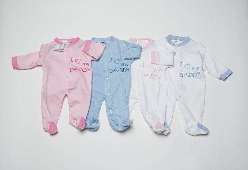Baby Assorted Sleepsuit I Love Daddy