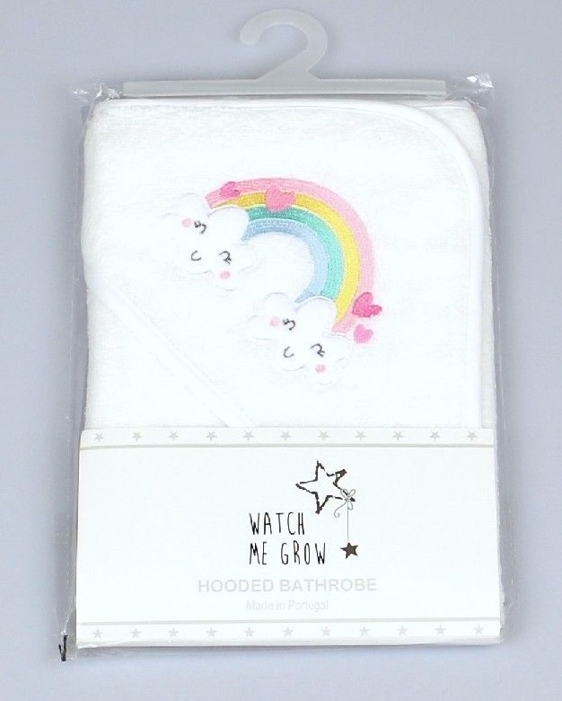 Baby Hooded Robe, Rainbow Embroidery