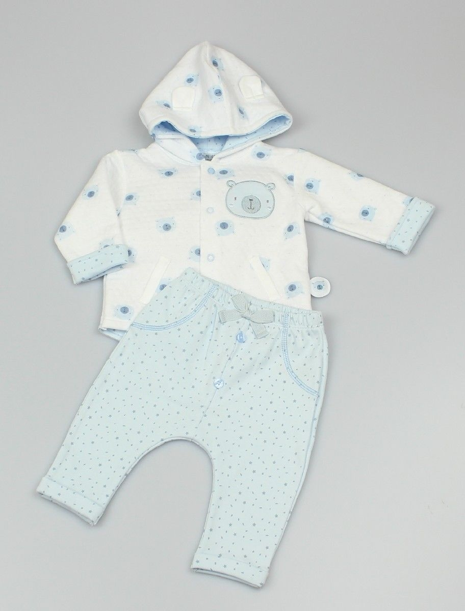 2pc Set - Baby Supersoft Quilted Hooded Jacket And Trouser
