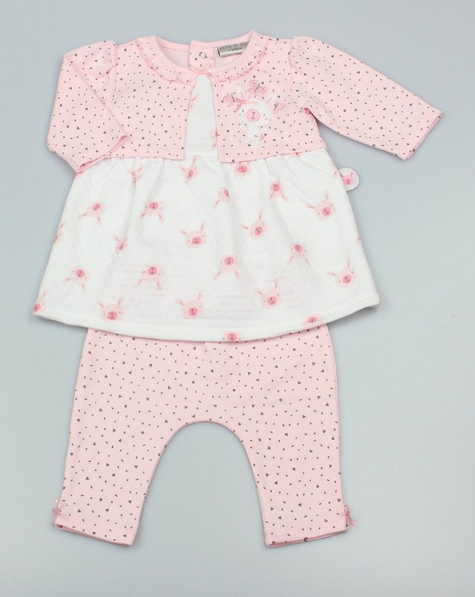 2pc Set, Baby Supersoft Tunic With Mock Shrug And Leggings