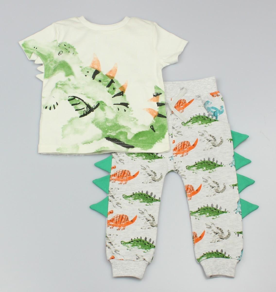 T-shirt + Jogger Rainbow Dino