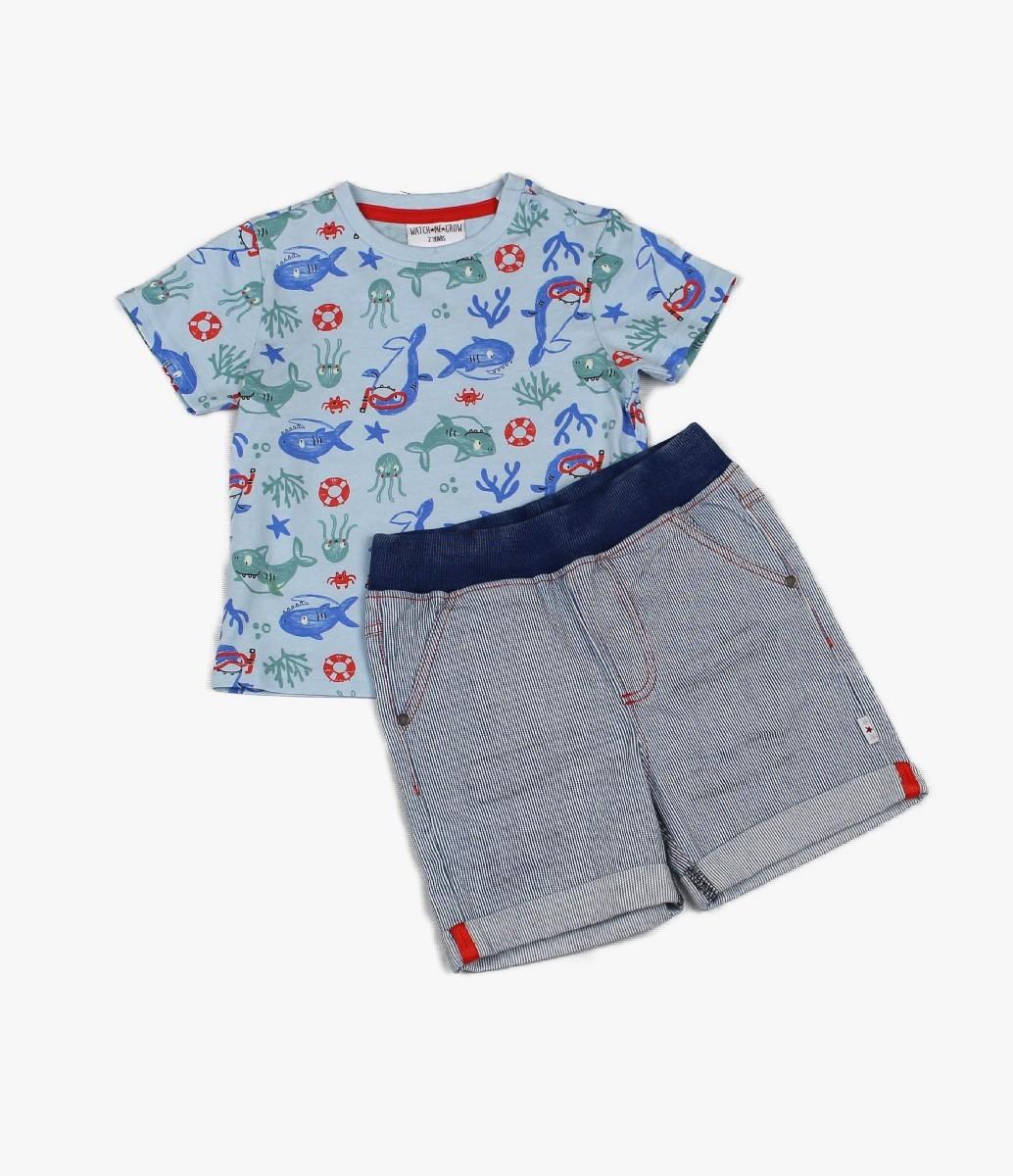 Denim Short + T-shirt Shar