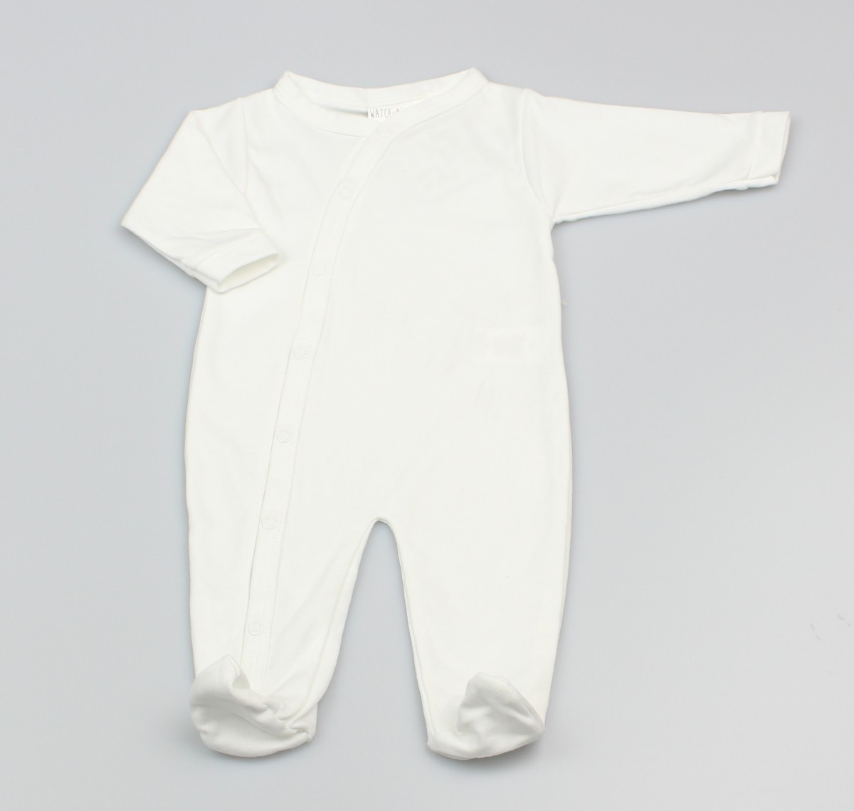 Cotton Sleepsuit Plain White