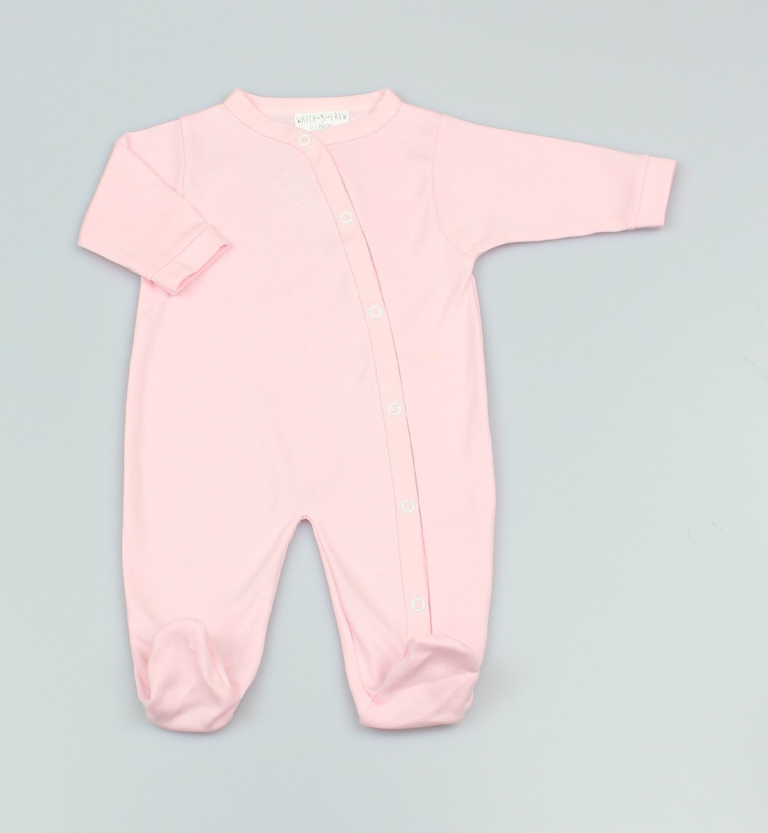 Baby Cotton Sleepsuit - Pink