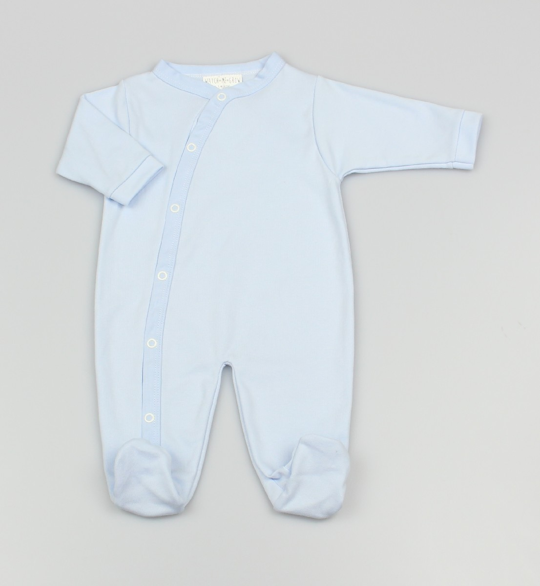 Baby Cotton Sleepsuit - Blue
