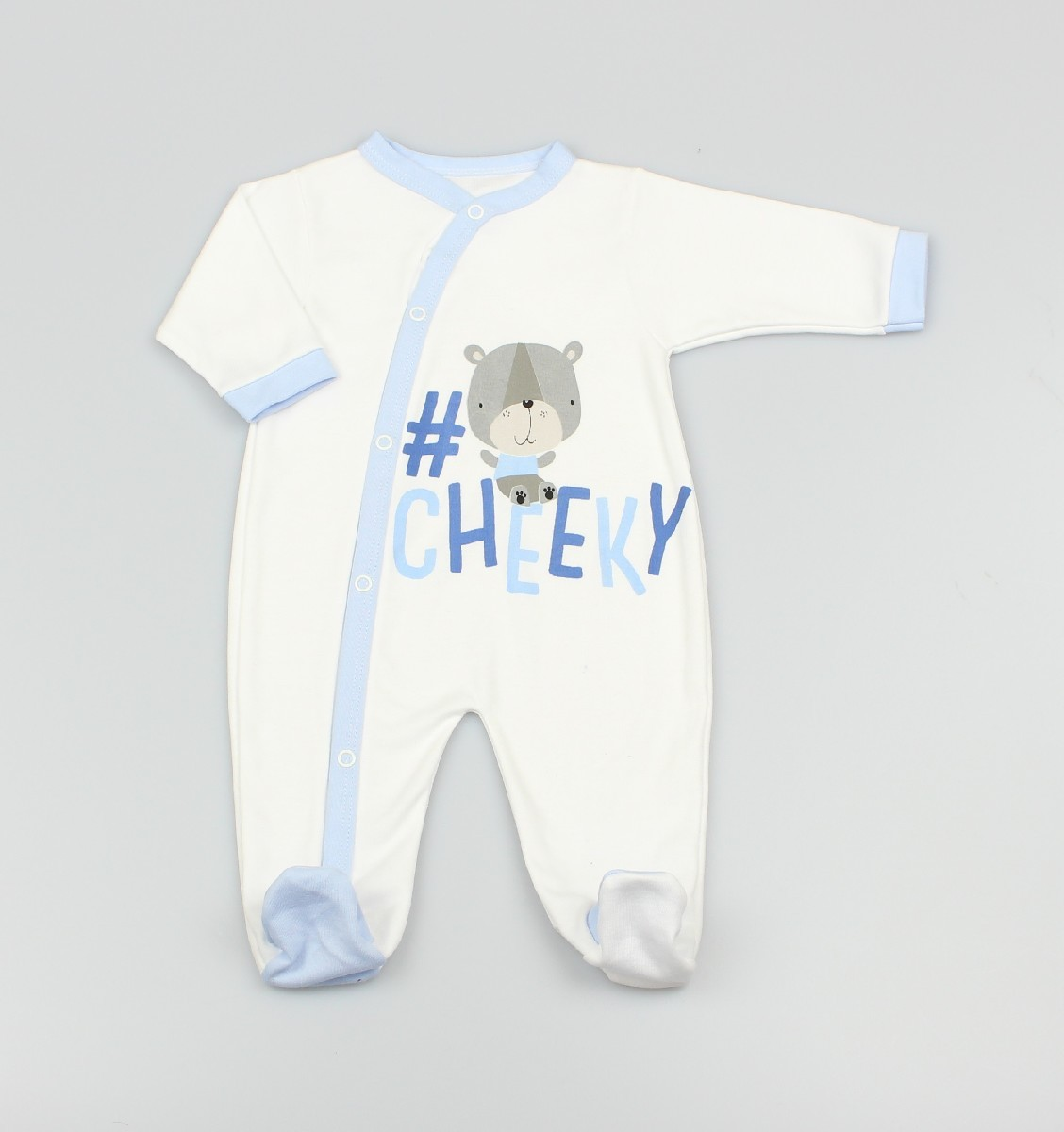 Cotton Sleepsuit Cheeky Blue
