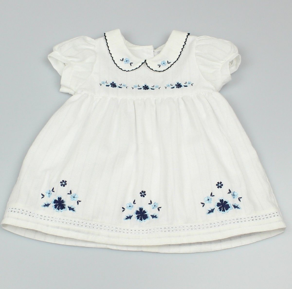 AOP Dress Lined Doby/Blue Flowers