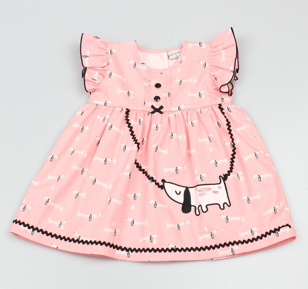 AOP Dress Lined Dachshund