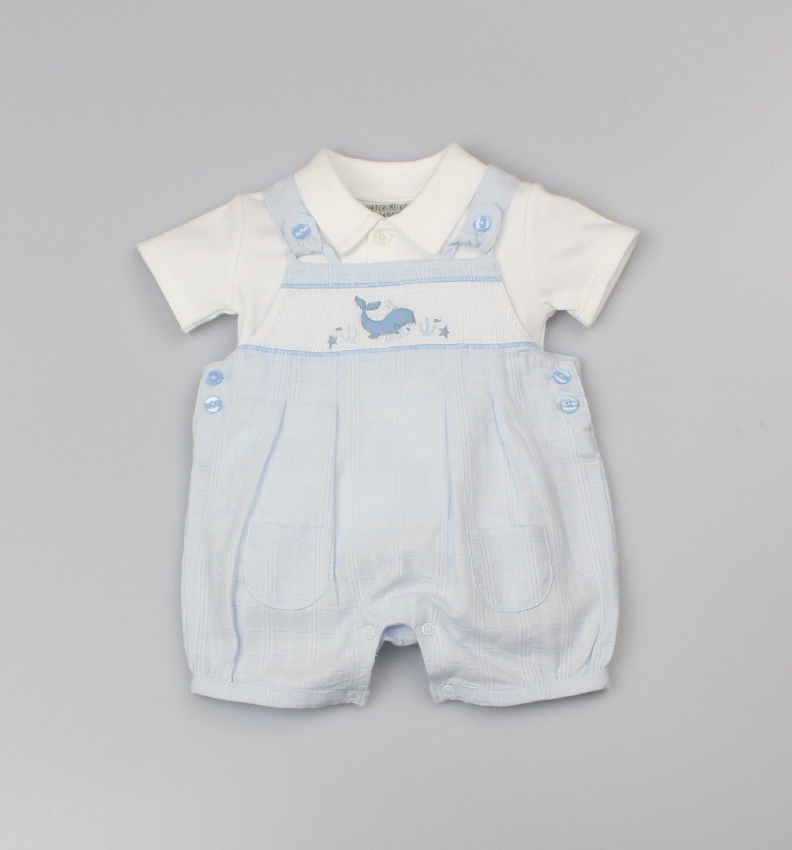 Boys Dungaree + Top Whale