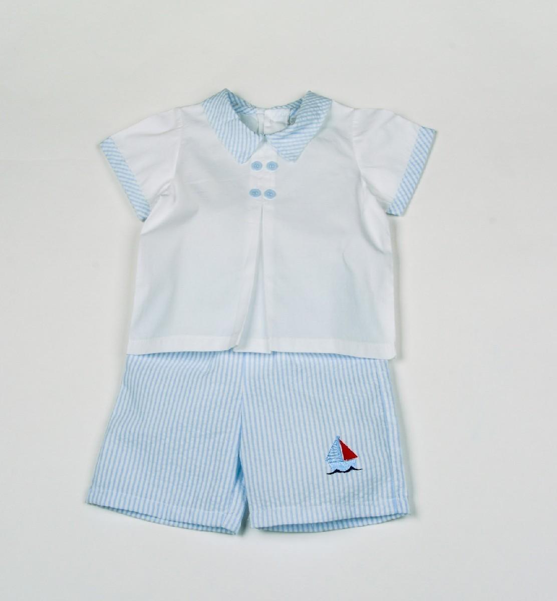 2pcs Shorts +T-shirt, Boat
